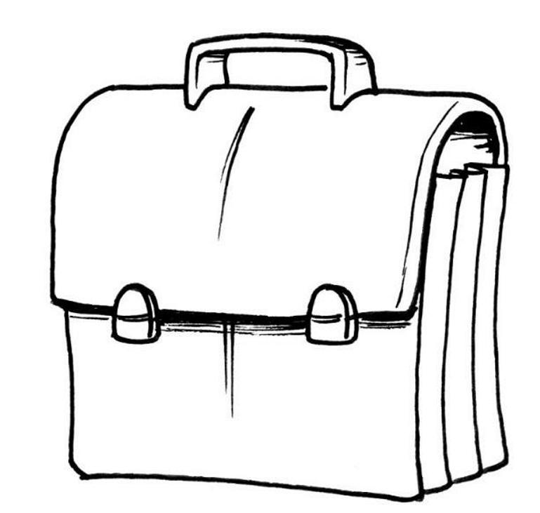 mala para colorir desenhos sketch coloring page