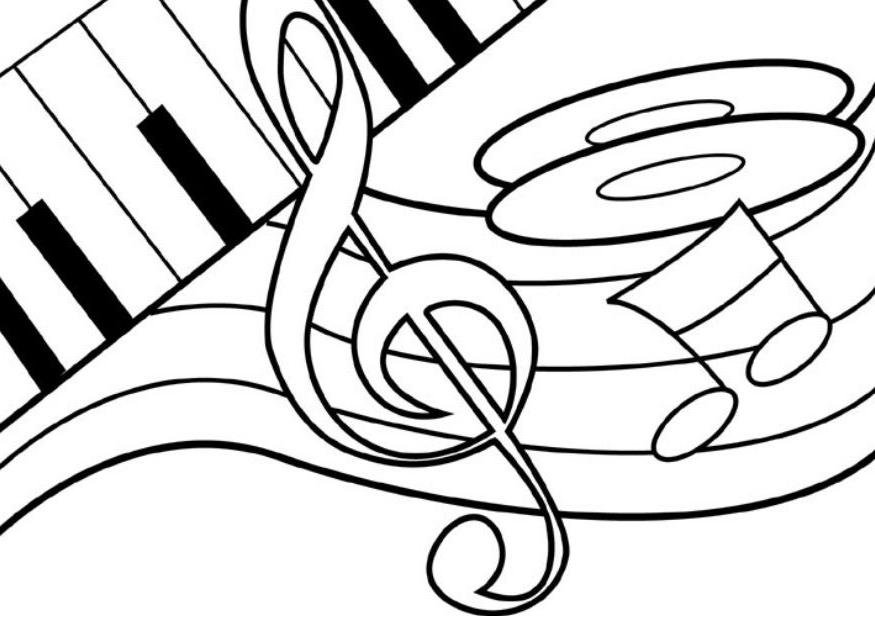 musical grand staff coloring pages - photo#34